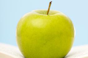 bok og eple2_istock