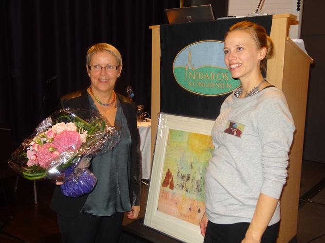 mottakelse av NIdarosprisen Irene Hetlevik (foto:Pål KRistiensen)