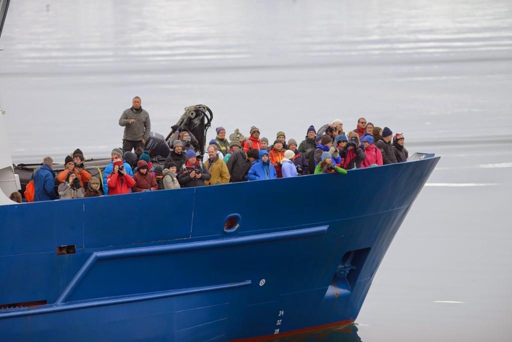 Spitsbergen 2014, boat trip. Photo: Winfried Denk