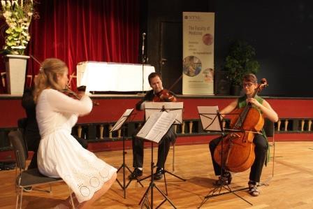 Musikere fra Trondheim kammermusikkfestival sto for musikalske innslag