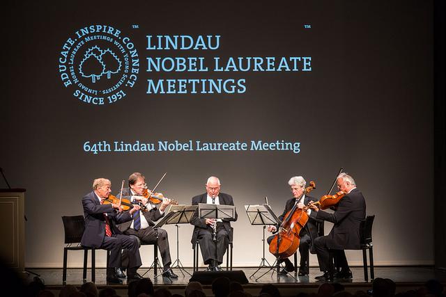 Musikalsk innslag fra Vienna Philharmonic Orchestra under åpningsseremonien til det 64. Lindau Nobel Laureate Meeting 2014.