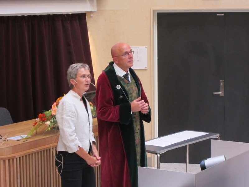 Prodekan studie Hilde Grimstad og dekan Stig Slørdahl