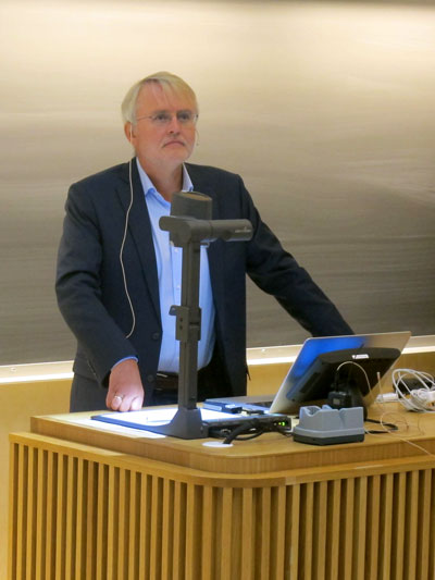 Terje Espevik opened the seminar in KA 11.