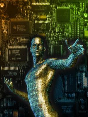 Digitalt generert bilde av en mann