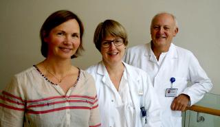 Tre sentrale personer i studien av slagpasienter som utvikler demens eller annen kognitiv svikt. Fra v.: Torunn Askim, Ingvild Saltvedt og Bent Indredavik.