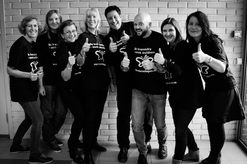 En glad gjeng arrangører: (Foto: RKBU Midt-Norge)