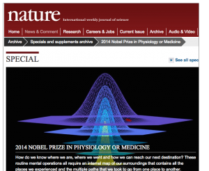 Screen shot Nature's 2014 Special Nobel Prize Edition