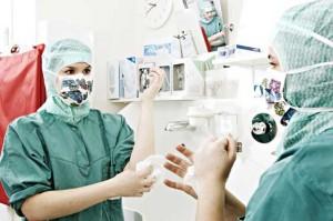 på operasjonssal