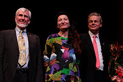 John O'Keefe, May-Britt og Edvard Moser