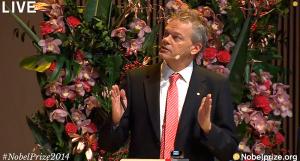 Edvard Moser holder nobelforedraget sitt
