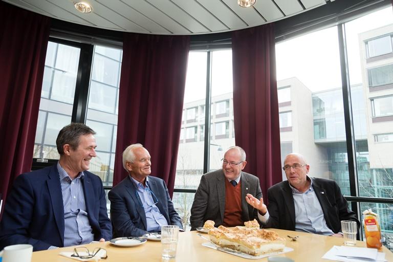 Nils Kvernmo, Trond Mohn, Gunnar Bovim og Stig Slørdah