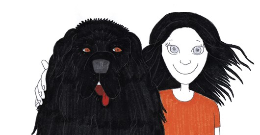 Depression is a black dog. Still from the animation Me and the black dog, by Neeta Madahar and Kate Owens.