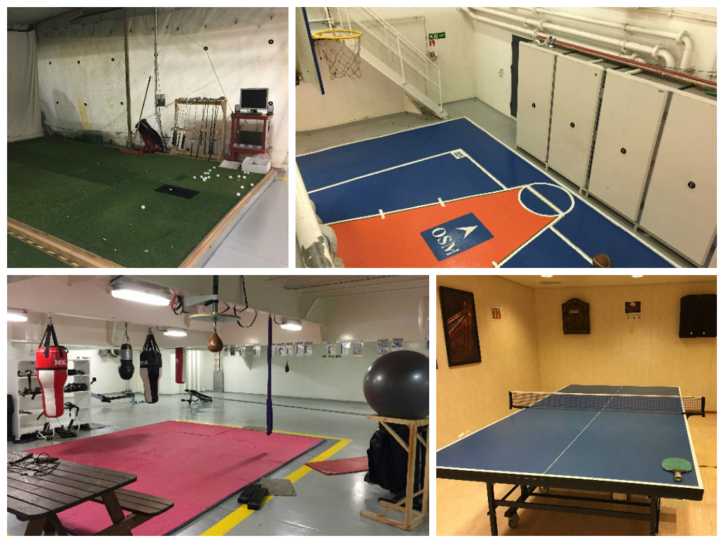 Sports halls onboard