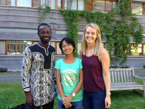 Global Health students Prince Oppong-Darko, Pushpanjali  Shakya and  Stine Camilla Norderhaug,