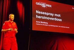 Arne Skulberg på Forsker grand prix 2014