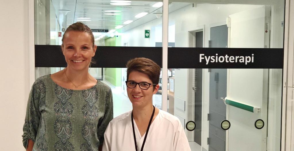 Prosjektet er en multisenter studie og er en del av doktorgradsforløpet til spesialfysioterapeut ved Sykehus i Østfold Stacey Haukeland-Parker. Studiens hovedveileder er spesialfysioterapeut og forsker Helge Hølmo Johannessen (til venstre).