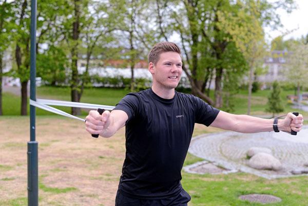 Ronny Bergquist med treningsstrikk