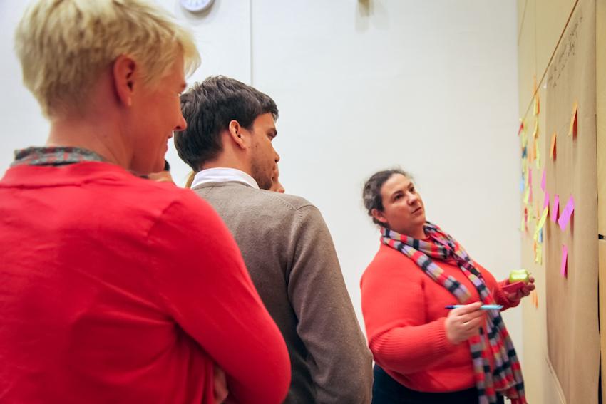 Deltakere på Helseinnovatørskolen. Foto: Monica Bring Estensen/ UiO.