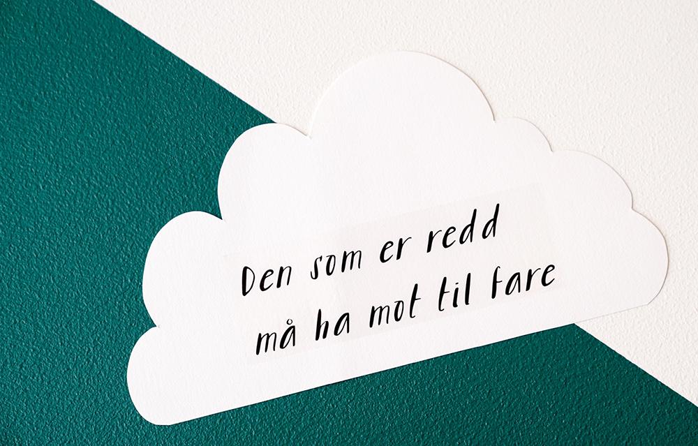 Fra utstillingen U;REDD. Illustrasjon Nina Eide Holtan og Marte Huke. Foto Geir Otto Johansen