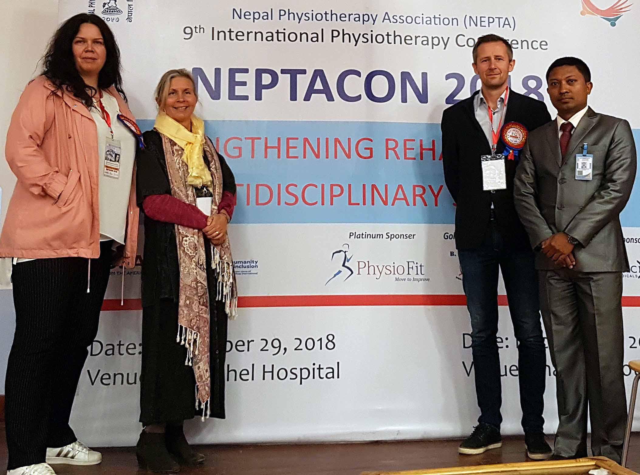 Kathrine Rømmen, Ann-Katrin Stensdotter, Lennart Bentsen og Nishchal Ratna Shakya.